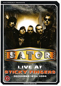 Sator - Live at Sticky Fingers DVD