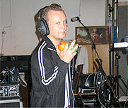 Heikki about to do some backing vocals
