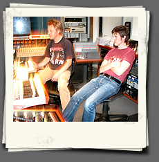 Chips & Kent at the mixing desk